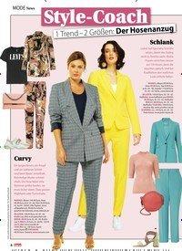 Titelbild der Ausgabe 7/2020 von Style-Coach: 1 Trend - 2 Größen: Der Hosenanzug. Zeitschriften als Abo oder epaper bei United Kiosk online kaufen.