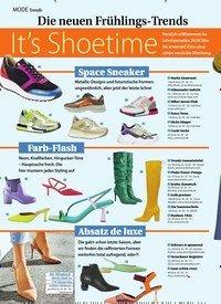 Titelbild der Ausgabe 7/2020 von Die neuen Frühlings-Trends: It's Shoetime. Zeitschriften als Abo oder epaper bei United Kiosk online kaufen.