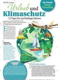 Titelbild der Ausgabe 12/2020 von AKTUELL Topthema: Urlaub und Klimaschutz 12 Tipps für nachhaltiges Reisen. Zeitschriften als Abo oder epaper bei United Kiosk online kaufen.