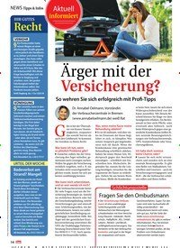 Titelbild der Ausgabe 12/2020 von NEWS Tipps & Infos: Ärger mit der Versicherung?. Zeitschriften als Abo oder epaper bei United Kiosk online kaufen.