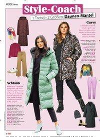 Titelbild der Ausgabe 1/2021 von News: Style-Coach: 1 Trend – 2 Größen: Daunen-Mäntel. Zeitschriften als Abo oder epaper bei United Kiosk online kaufen.