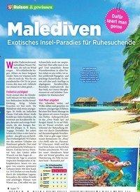 Titelbild der Ausgabe 45/2019 von Malediven: Exotisches Insel-Paradies für Ruhesuchende. Zeitschriften als Abo oder epaper bei United Kiosk online kaufen.