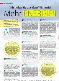 Titelbild der Ausgabe 1/2018 von Wir holen Sie aus dem Wintertief Mehr ENERGIE!. Zeitschriften als Abo oder epaper bei United Kiosk online kaufen.