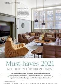 Titelbild der Ausgabe 1/2021 von SPECIAL: WOHNTRENDS: Must-haves 2021NEUHEITEN FÜR IHR ZUHAUSE. Zeitschriften als Abo oder epaper bei United Kiosk online kaufen.