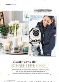 Titelbild der Ausgabe 2/2019 von WOHNEN: REPORTAGE: Immer wenn der SCHNEE LEISE RIESELT. Zeitschriften als Abo oder epaper bei United Kiosk online kaufen.