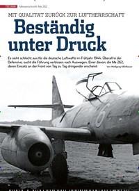 Titelbild der Ausgabe 12/2019 von Messerschmitt schmitt Me 262: Beständig unter Druck. Zeitschriften als Abo oder epaper bei United Kiosk online kaufen.