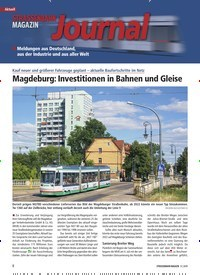 Titelbild der Ausgabe 9/2019 von Aktuell: Magdeburg: Investitionen in Bahnen und Gleise. Zeitschriften als Abo oder epaper bei United Kiosk online kaufen.