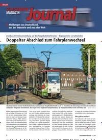 Titelbild der Ausgabe 12/2019 von Journal: Doppelter Abschied zum Fahrplanwechsel. Zeitschriften als Abo oder epaper bei United Kiosk online kaufen.