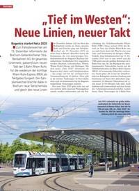 """Titelbild der Ausgabe 1/2020 von """"Tief im Westen"""": Neue Linien, neuer Takt. Zeitschriften als Abo oder epaper bei United Kiosk online kaufen."""