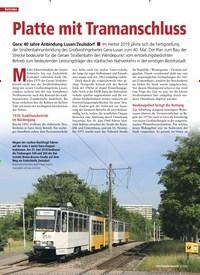 Titelbild der Ausgabe 3/2020 von Platte mit Tramanschluss. Zeitschriften als Abo oder epaper bei United Kiosk online kaufen.