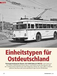 Titelbild der Ausgabe 4/2020 von Obus-Typen: Einheitstypen für Ostdeutschland. Zeitschriften als Abo oder epaper bei United Kiosk online kaufen.
