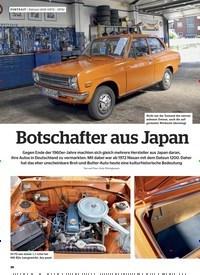 Titelbild der Ausgabe 6/2019 von PORTRAIT | Datsun 1200 (1972 – 1974): Botschafter aus Japan. Zeitschriften als Abo oder epaper bei United Kiosk online kaufen.
