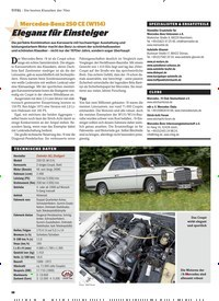 Titelbild der Ausgabe 1/2020 von Mercedes-Benz 250 CE (W114): Eleganz für Einsteiger. Zeitschriften als Abo oder epaper bei United Kiosk online kaufen.