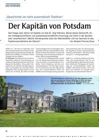 Titelbild der Ausgabe 6/2019 von DAS INTERVIEW: Der Kapitän von Potsdam. Zeitschriften als Abo oder epaper bei United Kiosk online kaufen.