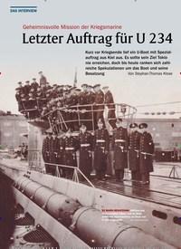 Titelbild der Ausgabe 1/2020 von Geheimnisvolle Mission der Kriegsmarine: Letzter Auftrag für U 234. Zeitschriften als Abo oder epaper bei United Kiosk online kaufen.