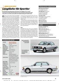 Titelbild der Ausgabe 1/2020 von BMW 323i (E21): Langläufer für Sportler. Zeitschriften als Abo oder epaper bei United Kiosk online kaufen.