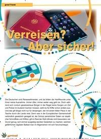 Titelbild der Ausgabe 6/2019 von grow! Travel: Verreisen? Aber sicher!. Zeitschriften als Abo oder epaper bei United Kiosk online kaufen.