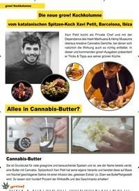 Titelbild der Ausgabe 6/2019 von grow! Kochkolumne: Die neue grow! Kochkolumne vom katalanischen Spitzen-Koch Xavi Petit, Barcelona, Ibiza. Zeitschriften als Abo oder epaper bei United Kiosk online kaufen.