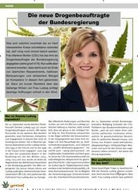 Titelbild der Ausgabe 6/2019 von Politik: Die neue Drogenbeauftragte der Bundesregierung. Zeitschriften als Abo oder epaper bei United Kiosk online kaufen.