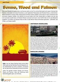 Titelbild der Ausgabe 3/2020 von grow! Travel: Sonne, Weed und Palmen Sonne, Weed und Palmen. Zeitschriften als Abo oder epaper bei United Kiosk online kaufen.