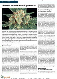 Titelbild der Ausgabe 3/2020 von Cannabis-Politik: Bremen erlaubt mehr Eigenbedarf. Zeitschriften als Abo oder epaper bei United Kiosk online kaufen.