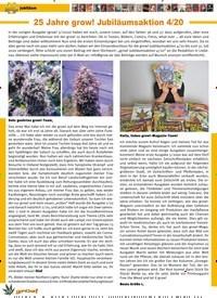 Titelbild der Ausgabe 4/2020 von 25 Jahre grow! Jubiläumsaktion 4/20. Zeitschriften als Abo oder epaper bei United Kiosk online kaufen.