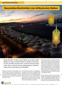 Titelbild der Ausgabe 4/2020 von Quarantäne-Nachrichten vom afrikanischen Balkon. Zeitschriften als Abo oder epaper bei United Kiosk online kaufen.