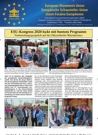 Titelbild der Ausgabe 9/2019 von ESU-Kongress 2020 lockt mit buntem Programm. Zeitschriften als Abo oder epaper bei United Kiosk online kaufen.