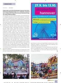 Titelbild der Ausgabe 10/2019 von HANNOVER. Zeitschriften als Abo oder epaper bei United Kiosk online kaufen.