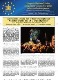 Titelbild der Ausgabe 10/2019 von Discussions about a ban of firework displays at Volksfest events: The ESU urges objectivity. Zeitschriften als Abo oder epaper bei United Kiosk online kaufen.