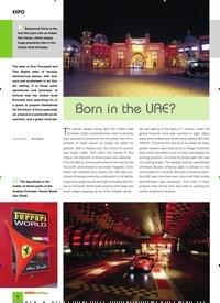 Titelbild der Ausgabe 3/2020 von EXPO: Born in the UAE?. Zeitschriften als Abo oder epaper bei United Kiosk online kaufen.