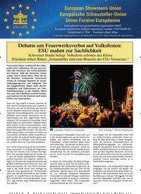 Titelbild der Ausgabe 10/2019 von Debatte um Feuerwerksverbot auf Volksfesten: ESU mahnt zur Sachlichkeit. Zeitschriften als Abo oder epaper bei United Kiosk online kaufen.