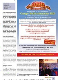 Titelbild der Ausgabe 2/2020 von SPECIAL: ZWEITER CRANGER WEIHNACHTSZAUBER. Zeitschriften als Abo oder epaper bei United Kiosk online kaufen.