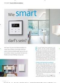 Titelbild der Ausgabe 1/2021 von Smarte Elektroinstallation: Wie smart darf's sein?. Zeitschriften als Abo oder epaper bei United Kiosk online kaufen.