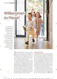 Titelbild der Ausgabe 1/2021 von Eingangsbereich: Willkommen zu Hause!. Zeitschriften als Abo oder epaper bei United Kiosk online kaufen.