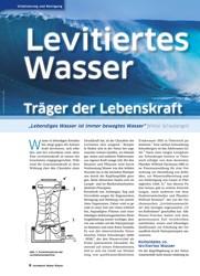 Titelbild der Ausgabe 39/2019 von Levitiertes Wasser: Träger der Lebenskraft. Zeitschriften als Abo oder epaper bei United Kiosk online kaufen.