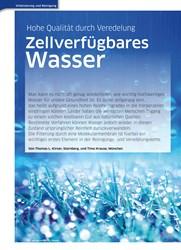 Titelbild der Ausgabe 39/2019 von Hohe Qualität durch Veredelung: Zellverfügbares Wasser. Zeitschriften als Abo oder epaper bei United Kiosk online kaufen.
