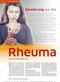 Titelbild der Ausgabe 41/2020 von Rheuma. Zeitschriften als Abo oder epaper bei United Kiosk online kaufen.