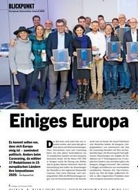 Titelbild der Ausgabe 3/2020 von BLICKPUNKT: European Innovation Award 2020: Einiges Europa. Zeitschriften als Abo oder epaper bei United Kiosk online kaufen.