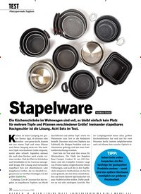 Titelbild der Ausgabe 3/2020 von TEST:Platzsparende Topfsets: Stapelware. Zeitschriften als Abo oder epaper bei United Kiosk online kaufen.