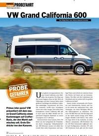 Titelbild der Ausgabe 8/2019 von PROBEFAHRT: VW Grand California 600. Zeitschriften als Abo oder epaper bei United Kiosk online kaufen.