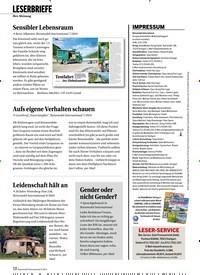 Titelbild der Ausgabe 9/2019 von Ihre Meinung:LESERBRIEFE. Zeitschriften als Abo oder epaper bei United Kiosk online kaufen.
