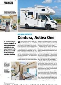 Titelbild der Ausgabe 9/2019 von EURA MOBIL UND FORSTER:Contura, Activa One. Zeitschriften als Abo oder epaper bei United Kiosk online kaufen.