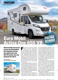 Titelbild der Ausgabe 1/2020 von PROBEFAHRT: Unterwegs mit dem …: Eura Mobil Activa One 650 VB. Zeitschriften als Abo oder epaper bei United Kiosk online kaufen.