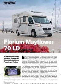 Titelbild der Ausgabe 4/2020 von PROBEFAHRT: Unterwegs mit dem … Florium Mayflower 70 LD. Zeitschriften als Abo oder epaper bei United Kiosk online kaufen.