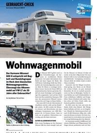 Titelbild der Ausgabe 6/2020 von GEBRAUCHT-CHECK: Wohnwagenmobil. Zeitschriften als Abo oder epaper bei United Kiosk online kaufen.