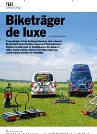 Titelbild der Ausgabe 6/2020 von TEST: Biketräger de luxe. Zeitschriften als Abo oder epaper bei United Kiosk online kaufen.