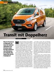 Titelbild der Ausgabe 7/2020 von PRAXISTEST: Transit mit Doppelherz. Zeitschriften als Abo oder epaper bei United Kiosk online kaufen.