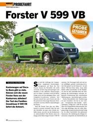 Titelbild der Ausgabe 7/2020 von PROBEFAHRT: Forster V 599 VB. Zeitschriften als Abo oder epaper bei United Kiosk online kaufen.