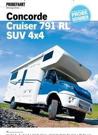 Titelbild der Ausgabe 8/2020 von PROBEFAHRT: Unterwegs mit dem … Concorde Cruiser 791 RL SUV 4x4. Zeitschriften als Abo oder epaper bei United Kiosk online kaufen.